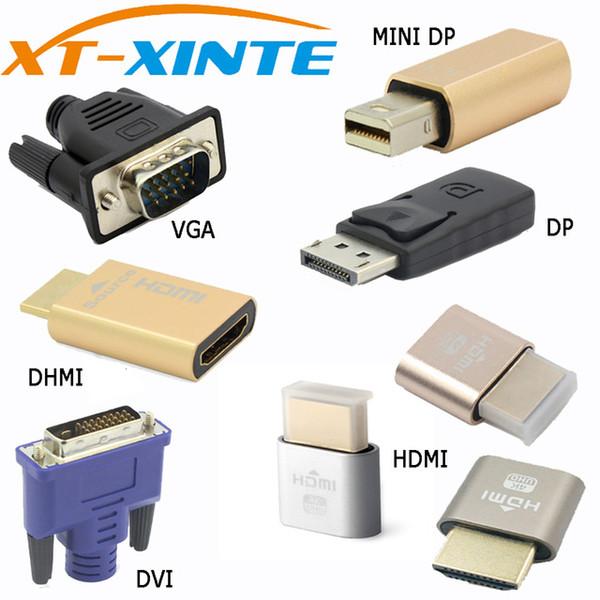 Разъем Xinte VGA DVI HDMI Mini DP Дисплей порт Виртуальный дисплей Заглушка Разъем адаптера EDID Без головного устройства KVM 2560 1920 * 1080p @ 60 Гц 4K