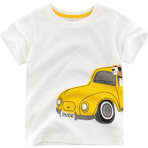 2019 Summer New Enfant Boys T-shirt Cotton Children Cartoon car pattern Tops Kids clothes Baby boy Short Sleeve T-Shirt 2-7y