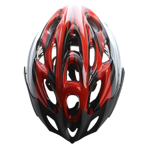 Red Black Mountain Road Race Bicycle Bike Cycling Safety Unisex Helmet + Visor L