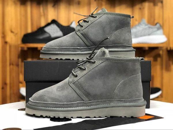 (AVEC BOX) Top MEN BOTTES NEUMEL chaussures SUEDE bottes d'hiver en laine mens bottes classiques série Newm sangles mini-démarrage à chaud casual TAILLE Z7 40-45