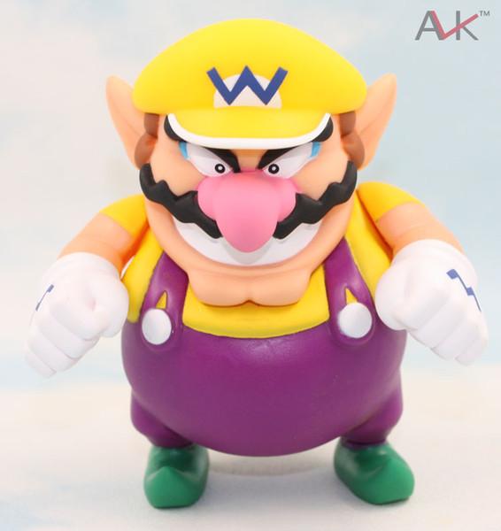 super mario bros Super Mario Bros Wario Action Figure Toy 12cm Anime game Collection PVC model Dolls toys Brinquedos