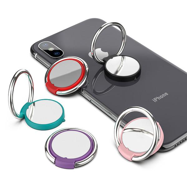 360 Derece Parmak Yüzük Cep Telefonu Tutucu Manyetik Tutucu Smartphone Için iPhone X Huawei Xiaomi Samsung için Standı