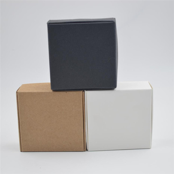 50 stücke kraft pappkarton handgemachte seife verpackung box DIY hochzeitsgeschenk paket kraft schmuck verpackung handwerk klein