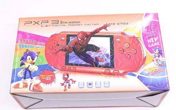 PXP3 El TV Video Oyun Konsolu 16 bit Mini Oyun PXP Cep Oyun Oyuncu perakende paketi ile