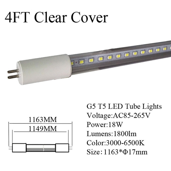 4Ft 18W Clear Cover