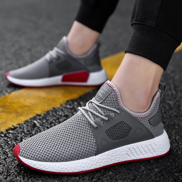 03b0610c7 2019 men s fashion casual shoes knit fly mesh breathable men s soft 2019  light soft black slipper