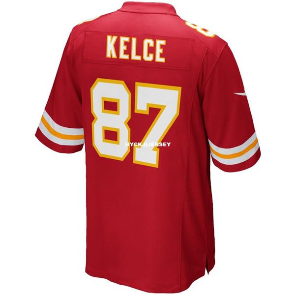 Cheap Stitching NCAA #87 tk Brand New 2019 KCC Top Game Edition Jersey red Big And Tall Size XS-4XL,5XL,6XL Men Football jerseys