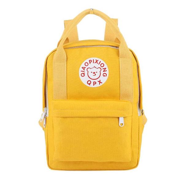 Women Backpacks Letter Bear Print Hand bag Student Girls School Bag Large Capacity Travel Bagpack Female shoulder bags