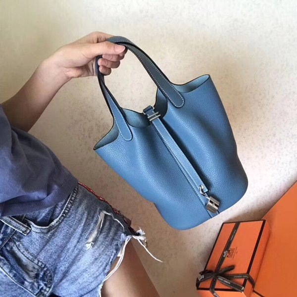 Yüksek kaliteli deri tote Tasarımcı çanta Picotin kilit sebze sepeti 2019 sıcak moda çanta Litchi deri çanta