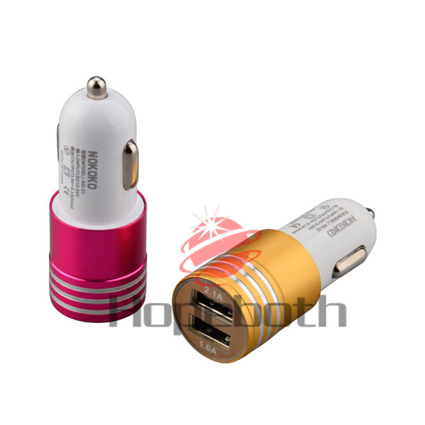 2.1A+1A mini usb car charger fast charging auto power adpater mobile phone chargers for iphone ipad mini air samsung gps pc
