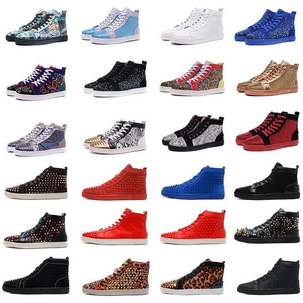 red runner donna men womens sneaker fashion luxury paris designers new red sneaker bottom casual shoes 32