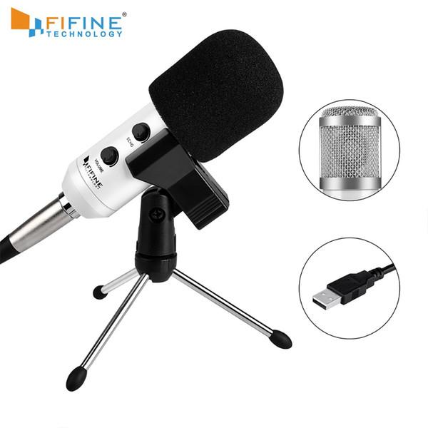 FIFINE Kondensatormikrofon USB-Anschlussanzug für PC Macbook für Online-Unterricht Meeting Chat mit Stativ-Stativ-Mikrofonclip