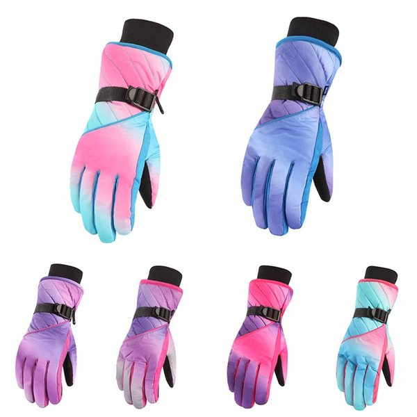 Winter Ski Gloves Full Finger Touch Screen Waterproof Windproof Warm Gloves Outdoor Riding