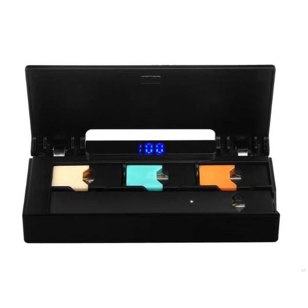 Мини зарядное устройство с ЖК-индикатором Зарядное устройство Power Bank 1200 мАч COCO Battery Pod Vape Pen DHL бесплатно