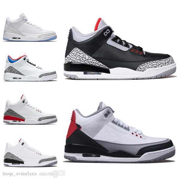 3 Klorofil 3 s Iii Erkekler Basketbol Ayakkabı Mocha Tinker Katrina Siyah Çimento Saf Beyaz Gerçek Mavi Erkek Eğitmen Spor Tasarımcısı Sneakers Ucuz