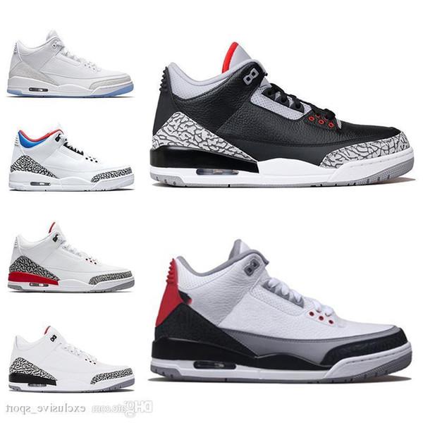 3 Chlorophyll 3s Iii Men Basketball Shoes Mocha Tinker Katrina Black Cement Pure White True Blue Mens Trainer Sports Designer Sneakers Cheap
