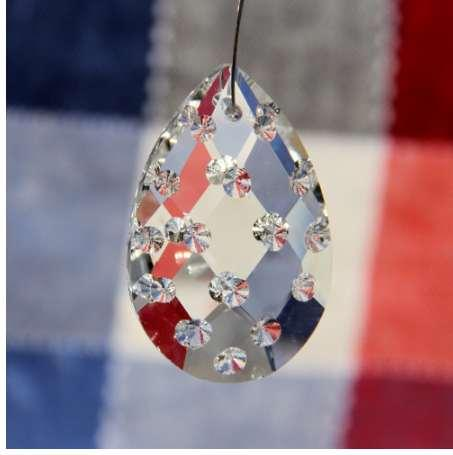 Free Shipping 20pcs/Lot 38mm Crystal Glass Chandelier Part Pendant Hanging Prism Drop Glass For Wedding/Garden Decoration