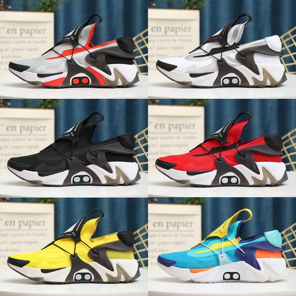 top popular Adapt Huarache Running Shoes For Kids Men Brand Newest Black Aurora Green Racer Blue Opti Yellow Hyper Jade Mens Outdoor Trainers 2021