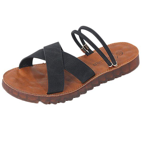Yaz Sandalet Kadın Yuvarlak Ayak Slip-On Nefes Plaj Sandalet Roma Terlik Rahat Düz Ayakkabı Sapatos Femininos Mujer