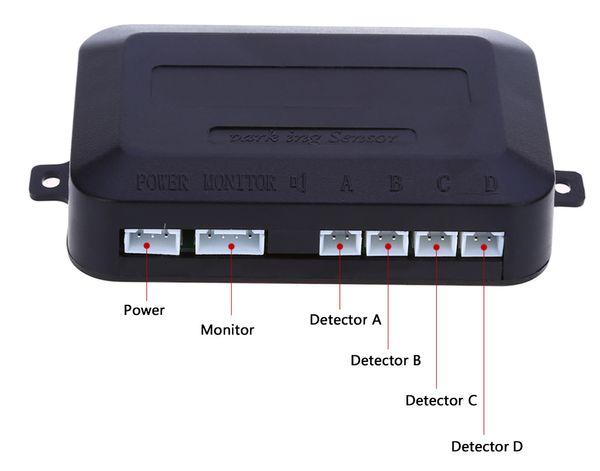 6 Cores 4 Sensor de Estacionamento Auto Invertendo Detector com Display LCD Sistema de Monitoramento de Alarme Step-up Inglês Notificação de Voz Frete Grátis