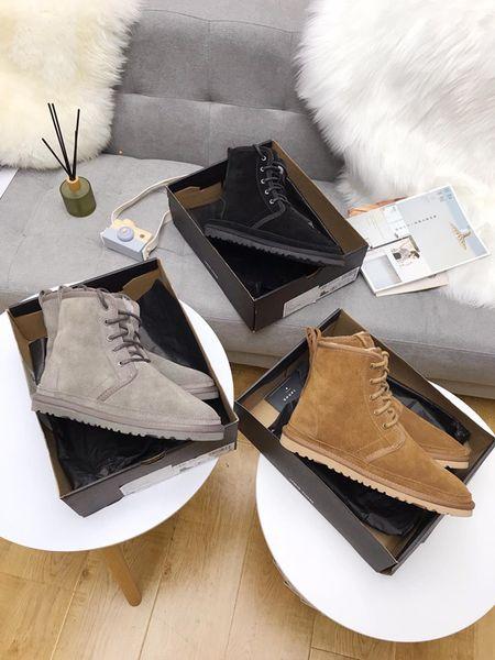 Yeni Geliş Marka Kadınlar Boots Lüks Tasarımcı Seksi Kalın Topuk Desert Platformu Boot Arı Yıldız Gerçek Deri Kış Ayakkabı xd2019092803