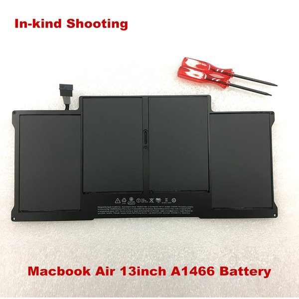 New laptop 7.6V 54.4Wh battery for Macbook Air 13inch A1466 2013-2017year A1496 Battery MD760 MD761 free shipping