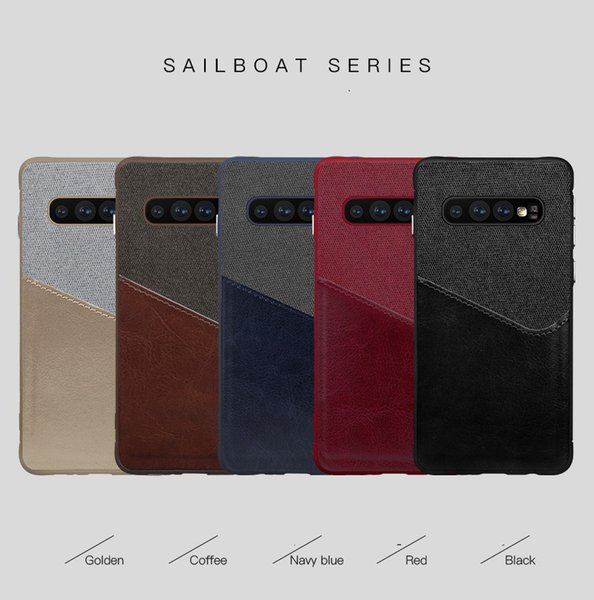 Card Slot PU Leather Cell Phone Cases For Samsung Galaxy S10 Plus Xiaomi Mi 9 Iphone XS Huawei P30 Pro Canvas Design Case