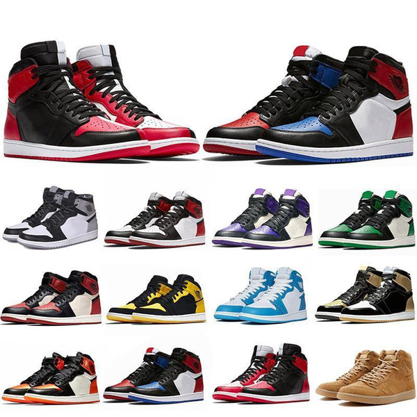 2019 New 1 1s Mens Basketball Shoes Not For Resale Red Yellow paris saint german Top 3 UNC Designer Sport Sneakers EUR 40-47