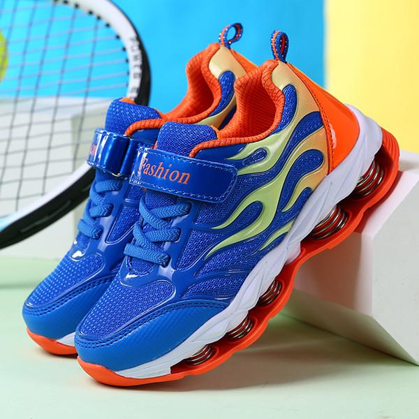 Kız Erkek Nefes Sneakers Şok Emme Çocuklar Günlük Ayakkabılar Doğa Sporları Koşu Yürüyüş Okul Ayakkabı Tenis TrainersMX190919