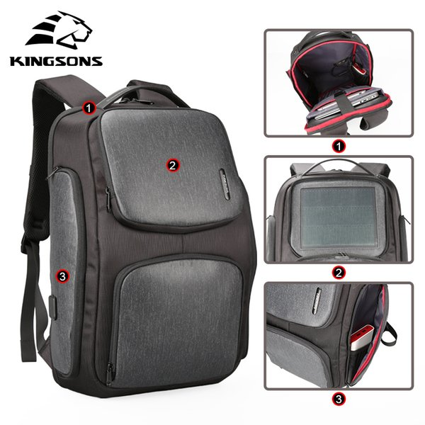 Steven Upgraded Solar Backpack Fast Usb Charging Kanpsack 15.6 Inches Laptop Backpacks Male Women Travel Bag Cool Mochila