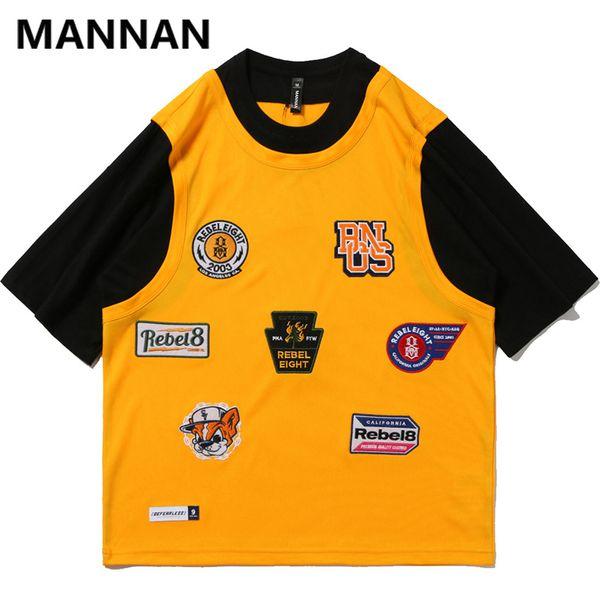 MANNAN 2019 Hommes Hip Hop T-shirt Japonais Rugissant 66 Imprimer Harajuku T-shirts Streetwear Style Japonais D'été T-shirt Top T-shirts