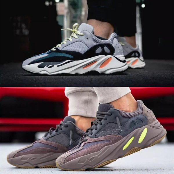 separation shoes 8bf27 4497a Kanye West 700 Wave Runner Running Shoes For Mens Womens 700s V2 Static  Sports Sneakers Mauve Solid Grey Luxury Designer Shoes Size 36 46 Best  Running ...