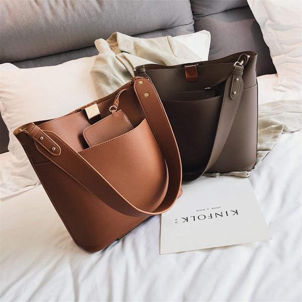 Vrouwen Designer Handtas De Grote Vrouwen Pu Lederen Handtassen 2018 Eenvoudige Mode Nieuwe Kwaliteit Draagtas Schoudertassen Bags For Women Weekend