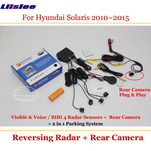 Night Vision 2 in1 Radar CCD Autos Reversing Rearview Backup Parking Camera Kit