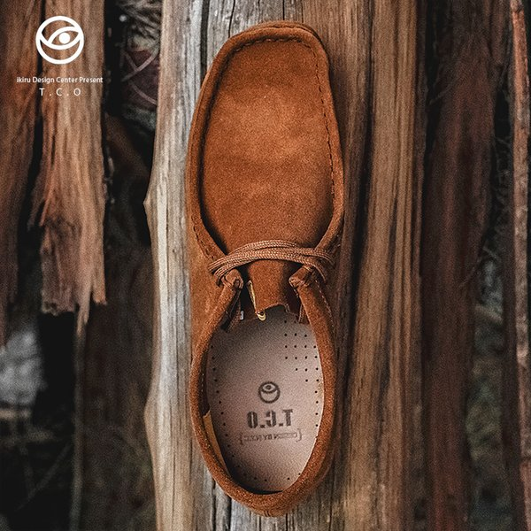 Beste Tco Känguru Schuhe Herren niedrige Hilfe Wallabee Stiefel Vintage England Wind lässig Rohgummi Herrenschuhe TCO ikiru
