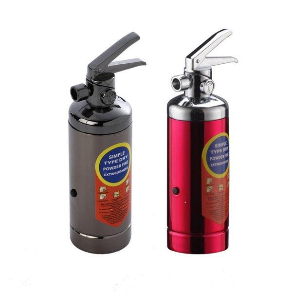 New Hot Metal Butane Lighter Funny Fire Extinguisher Shaped Creative Gas Lighters Refillable For Men Cigarette Accessory