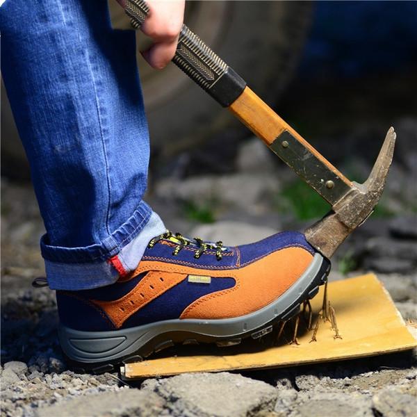 Hiver En Plein Air Hommes Randonnée Travail Sécurité En Acier Toe Chaud Respirant Hommes Bottes Décontractées Antidérapant Anti-Crevaison Travail Assurance Chaussures # 97168