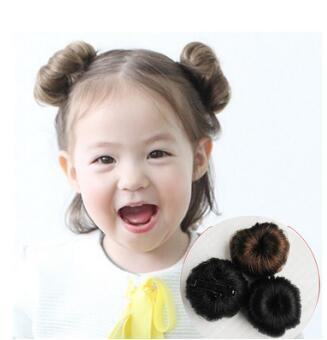 Grenzüberschreitende Babyhaar Donut Childen Haarnadel Vertrag Eine Blume Chignons Mädchen Zeigen Haarverlängerungen Haarprodukte HA130