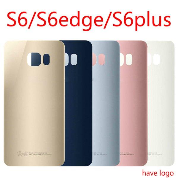 Per Samsung Galaxy S6 S6 Edge Plus Cover posteriore in vetro per batteria Custodia Custodia sostitutiva per SAMSUNG GALAXY G920F G925F
