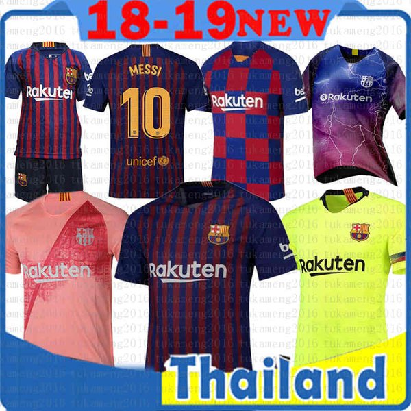 e235fbefc55 10 Messi Barcelona Soccer Jersey 2019 Men Women Kids kits Iniesta SUAREZ 23  MUTITI LENGLET MALCOM Dembele Coutinho Football uniforms shirts
