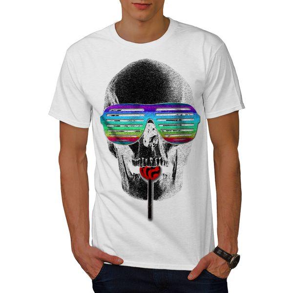 Wellcoda Hipster Candy Cool Mens T-shirt, Crazy Graphic Design Printed Tee Men Women Unisex Fashion tshirt Free Shipping black
