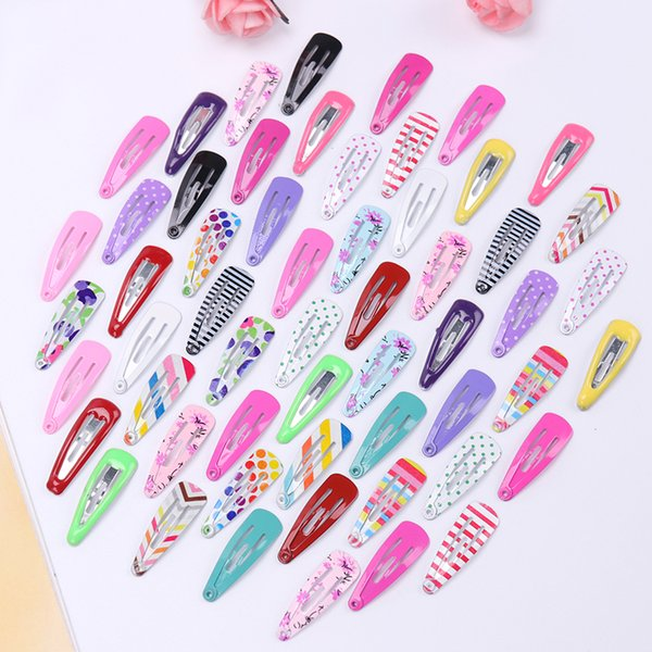 10PCS/Set New Lovely Cartoon Type Hair Clip Metal Candy Color Kids Headwear Children Accessories Baby BB Clips Girls Hairpins