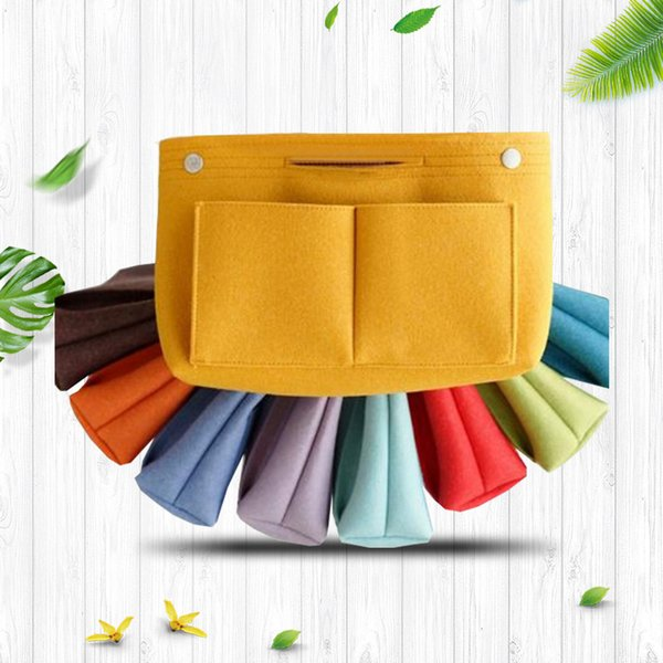 Felt Liner Package tote Eco Friendly Storage Speedy Bag Multi Function Cosmetic Buckle Wrap Multi Storey solid handbag Handed Basket FFA2426