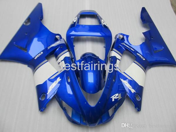 ZXMOTOR Hot sale fairing kit for YAMAHA R1 1998 1999 white blue fairings YZF R1 98 99 FS23