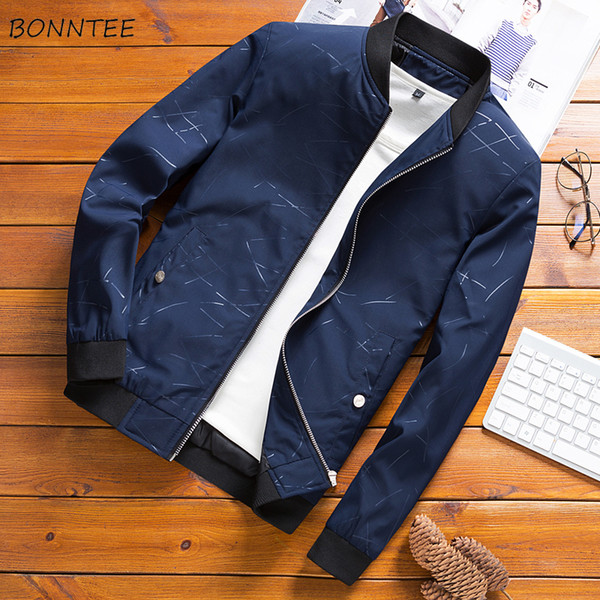 Jackets Men Solid Stand High Quality Comfortable New Fashion Mens Jacket and Coats All-match Ulzzang Slim Fit Korean Style Chic