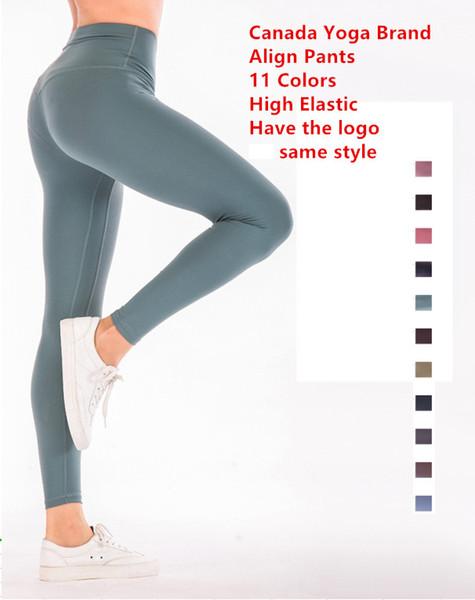 11 farben ausrichten hosen frauen kanada yoga marke designer leggings dame sexy gym laufen joggings hose fitness sport leggings 5010