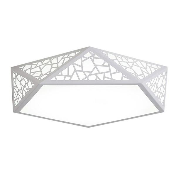 "OOVOV Bedroom Geometric LED Ceiling Lights Study Room Dining Room Drawing Room Ceiling Lamp,6000k,Iron,Acrylic,18W,42CM,17"""