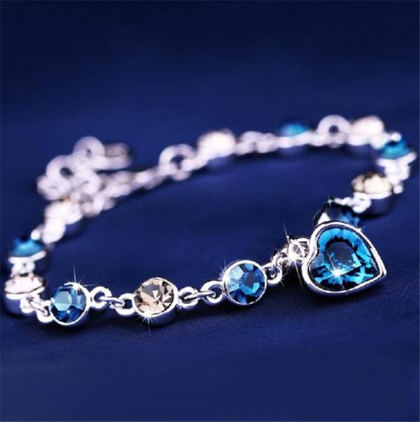 Austrian crystal full diamond bracelet Silver plated birthstone Crystal jewelry Optional multicolor Crystal Bracelet maxi statemet free ship