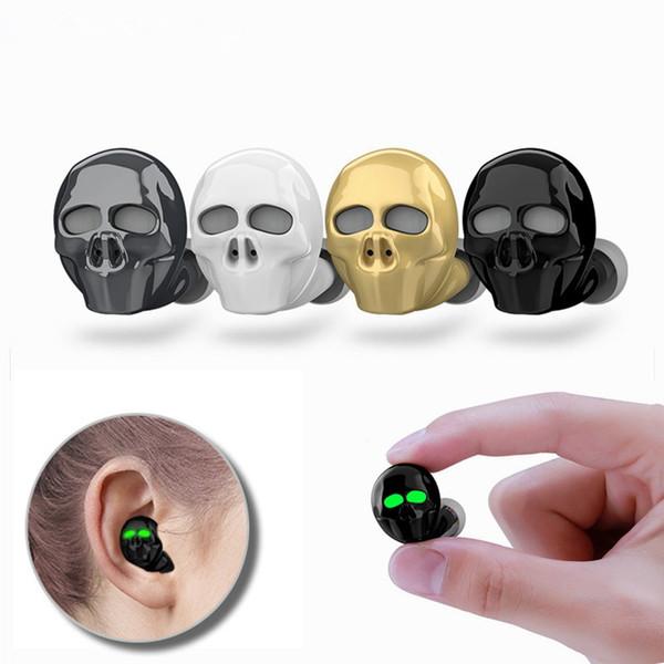 2019 Yeni Kafatası Kemik Bluetooth Kulaklık Iptal Mikrofon Gürültü ile Hi-Fi Handsfree Bas Stereo Mini Mikro Kulaklık