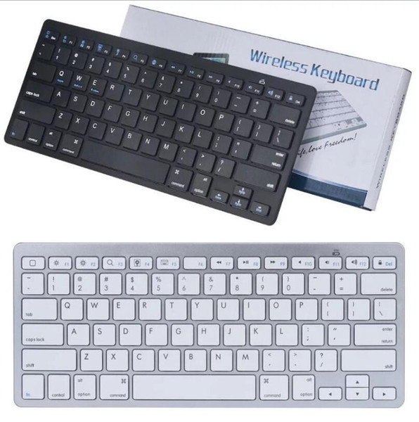 top popular Ultra Slim Bluetooth Keyboard Mute Tablets and Smartphones For Tablet Wireless Keyboard Style Is Android Windows PC 2021